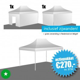 Opruiming: vouwtent 3x4,5 ECO (polyester)